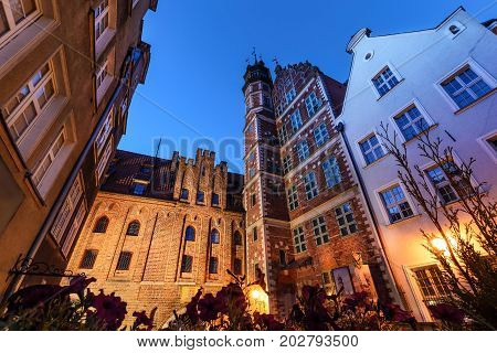 Mariacka street in Gdansk in the morning. Poland Europe.