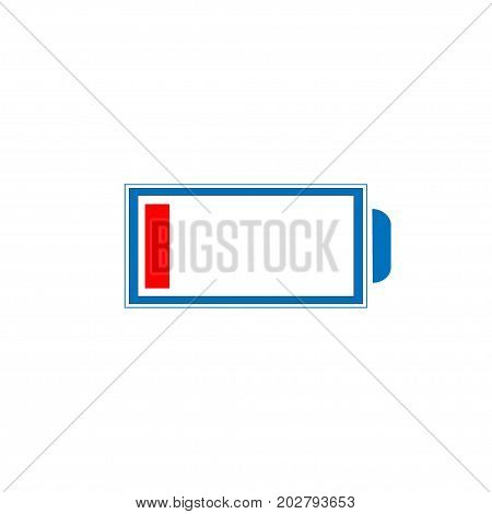 Icon of the battery discharged. vector illustration