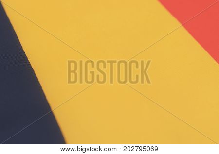 Abstract image of a fragment of the flag of Belgium