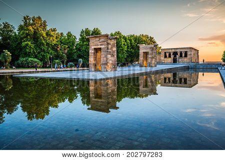 Templo de Debod Madrid Spain Europe .