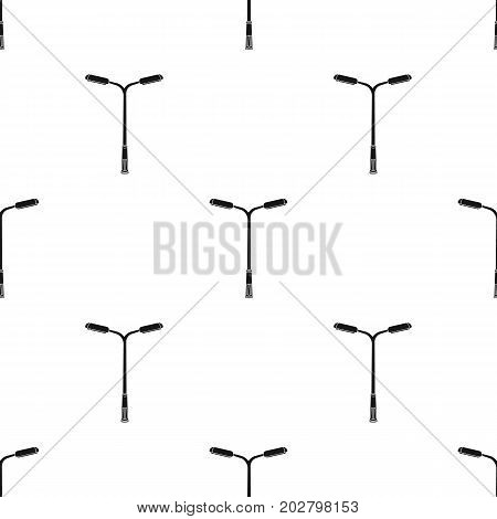 A modern street lamp.Lamppost single icon in black style vector symbol stock illustration .