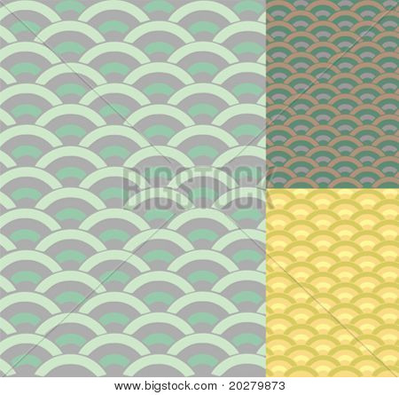 Traditional japanese ornamental pattern- seigaiha. Vector format