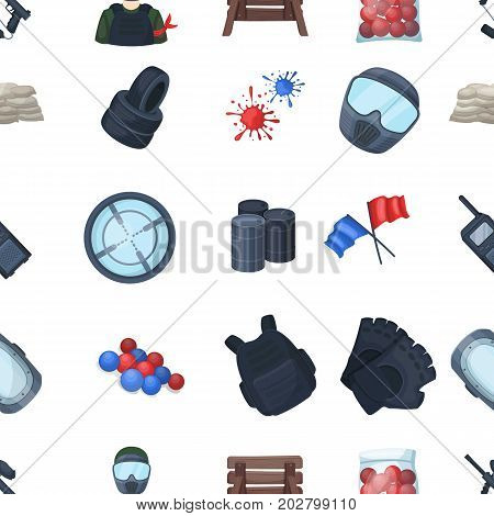 Marker for paintball, equipment, balls and other accessories for the game. Paintball single icon in cartoon style vector symbol stock illustration .