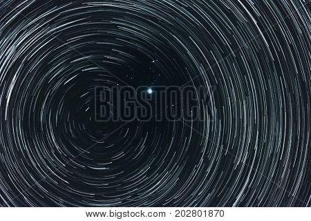 Polar star (Pole star) and north celestial pole poster