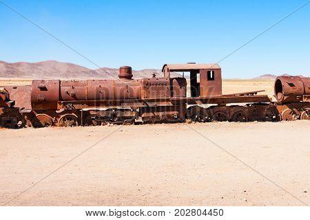 Train Cemetery, Bolivia