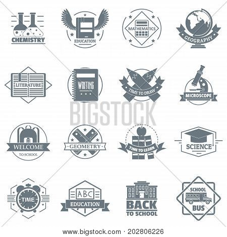 Credit logo icons set. Simple illustration of 16 credit logo vector icons for web
