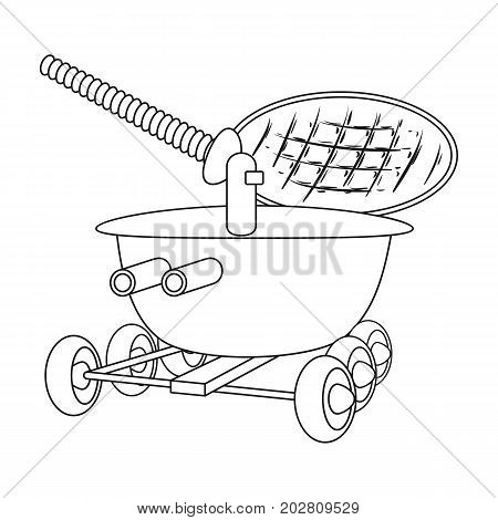 The spacecraft, Lunokhod. Space technology single icon in outline style vector symbol stock illustration .
