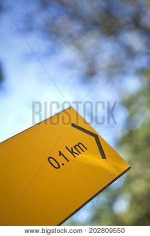 Direction And Distance On A Sign