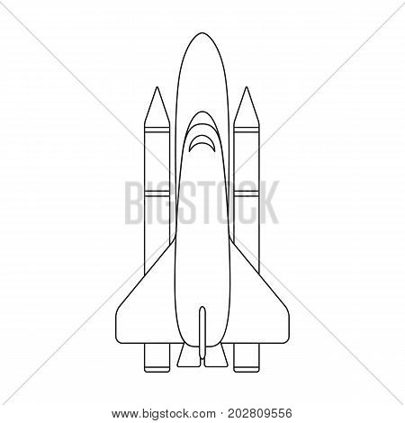 Delivery of the space shuttle.Space technology single icon in outline style vector symbol stock illustration .