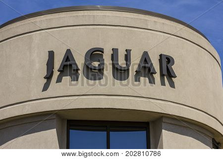 Indianapolis - Circa September 2017: Local Jaguar Luxury Car Dealership. Jaguar is a subsidiary of Tata Motors I