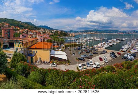 Le Grazie in Cinque Terre - Italy - architecture background