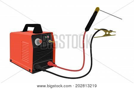 Prompt electrical welding equipment on transparent background