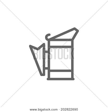 Simple beekeeping smoker line icon. Symbol and sign vector illustration design. Editable Stroke. Isolated on white background