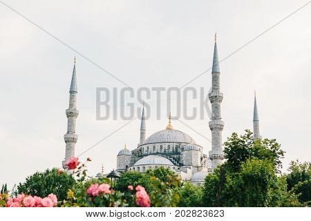 The famous Blue Mosque in Istanbul is also called Sultanahmet. Turkey.