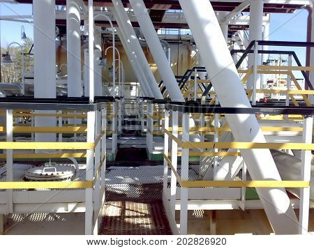 Oil Separation Unit. The Primary Separation Stage And The Final Stage Of Separation In One Physical