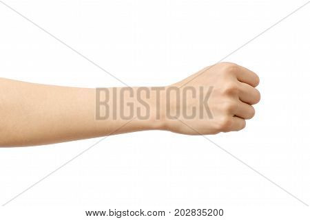Woman's Hand With Fist Gesture