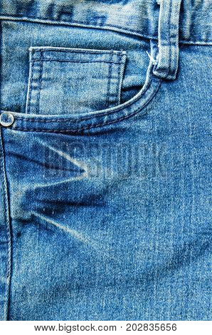 Pocket jeans denim fabric fashion texture background