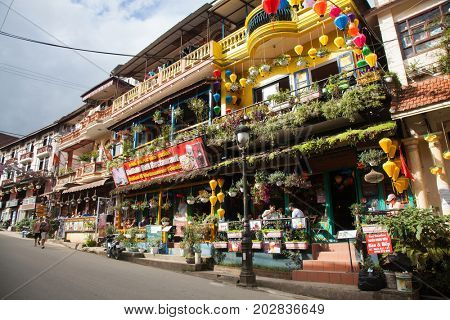 SA PA, VIETNAM - AUGUST 2017: Sa Pa town, the high mountains, Lao Cai province, Vietnam