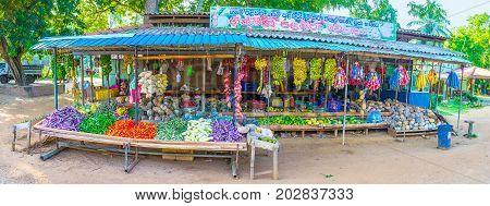 Farmer Stall In Roadside Market