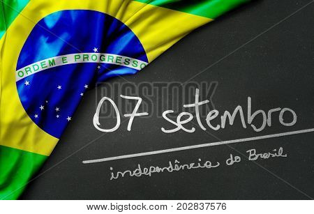 September 7, Brazil Independence Day (Writing in Portuguese)