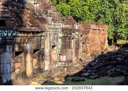 Ruins Of Ancient Buddhist Khmer Temple
