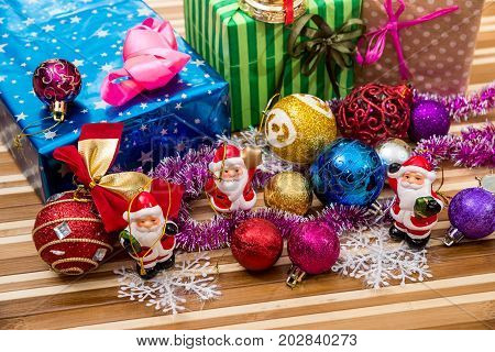 Toy Canta Clous With Many Xmas Present Box