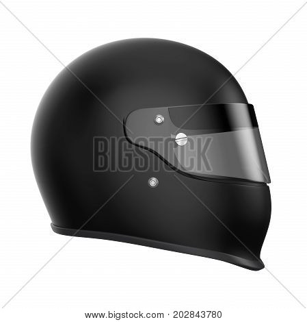 Auto Racing Helmet isolated on white background. 3D render