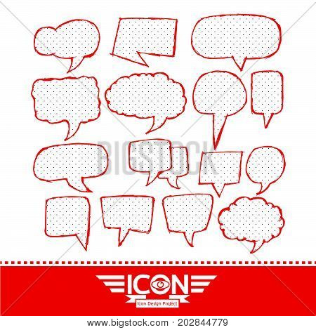 an images of Or pictogram Speech Bubble hand drawn design