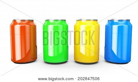 Aluminum cans 3d render ideal for beer lager alcohol soft drinks soda fizzy pop lemonade cola energy drink juice water