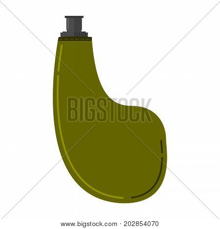 Tourist flask a vector in flat style.marching capacity for water bottle