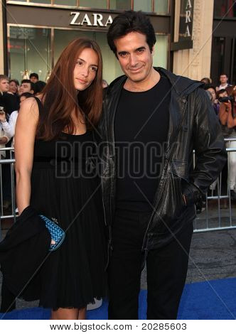 LOS ANGELES - JAN 23: David Copperfield & guest arrive at the