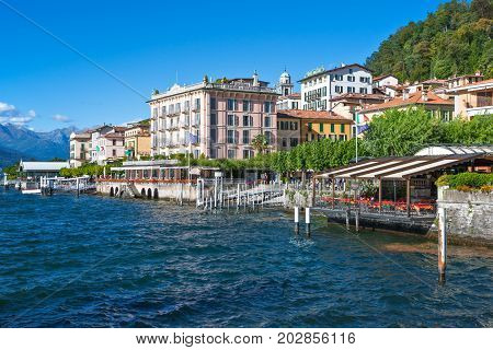 Bellagio Italy - August 31 2010: View of the country on the Como llake