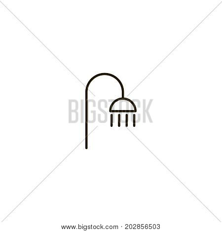 Shower flat icon. Single high quality symbol of line water vector for web design or mobile app. Color sign of bathroom for design logo. Single pictogram on white background