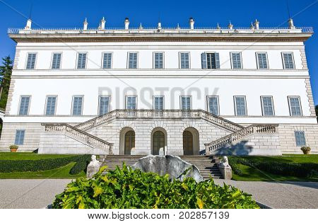 Bellagio Italy - August 31 2010: Villa Melzi seen from the garden
