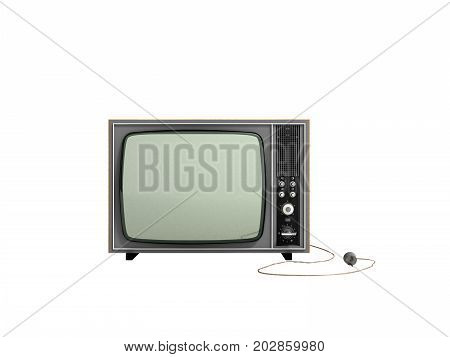 Creative Abstract Communication Media And Television Business Concept Old Retro Color Wooden Home Tv