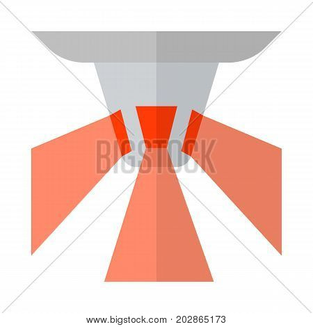 Flashing emergency light flat icon, vector sign, colorful pictogram isolated on white. Symbol, logo illustration. Flat style design