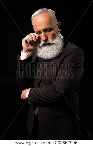 Businessman Wiping Tears Away