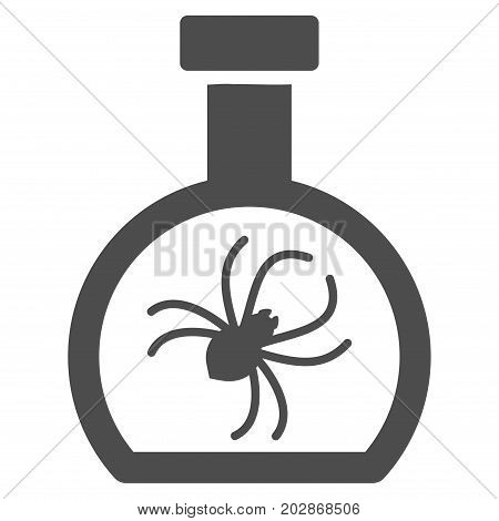Parasite Container Retort vector pictograph. Style is flat graphic gray symbol.