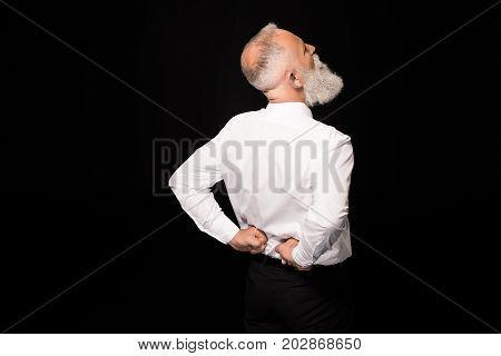 Man Rubbing Back