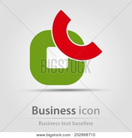 Originally created business icon with subtracted abstract shapes