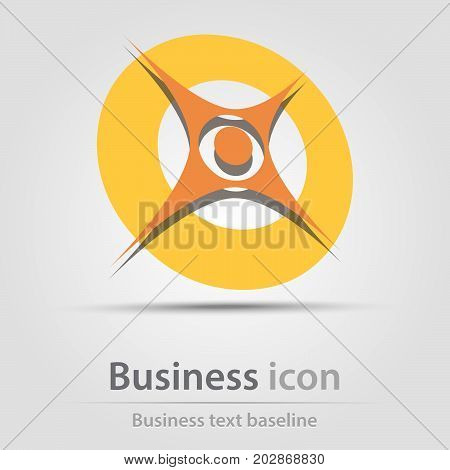 Originally created business icon with star and circle