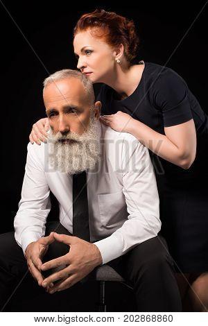 Woman Consoling Sad Man