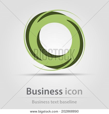 Originally created business icon with stacked abstract circles