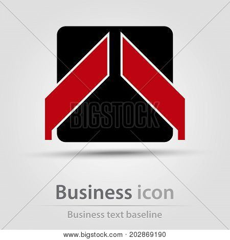 Originally created business icon with square and arrow