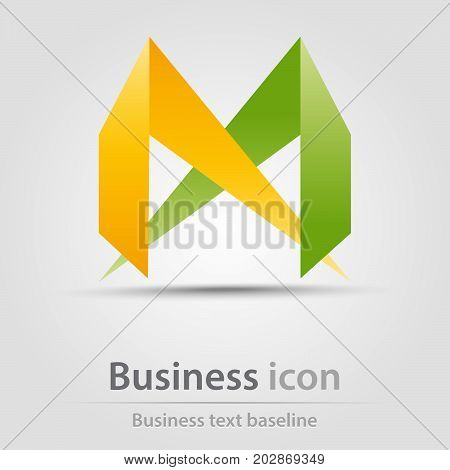 Originally created business icon with stylized wings