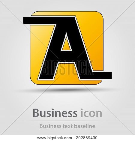Originally created business icon with stylized A letter