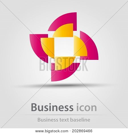 Originally created business icon with duocolor mill