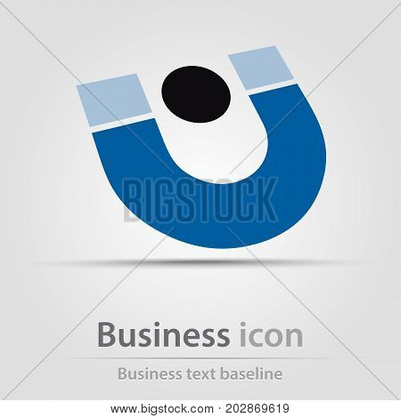 Originally created business icon with stylized U letter