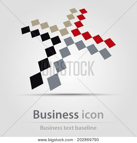 Originally created business icon with pixel cross