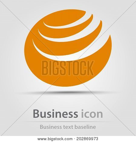 Originally created business icon with hatched circle